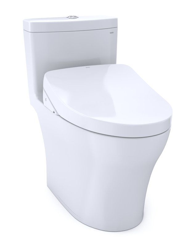Aquia Iv Dual Flush Elongated One Piece Toilet With Extra Cleansing Power Seat Included Toilet One Piece Toilets Seating