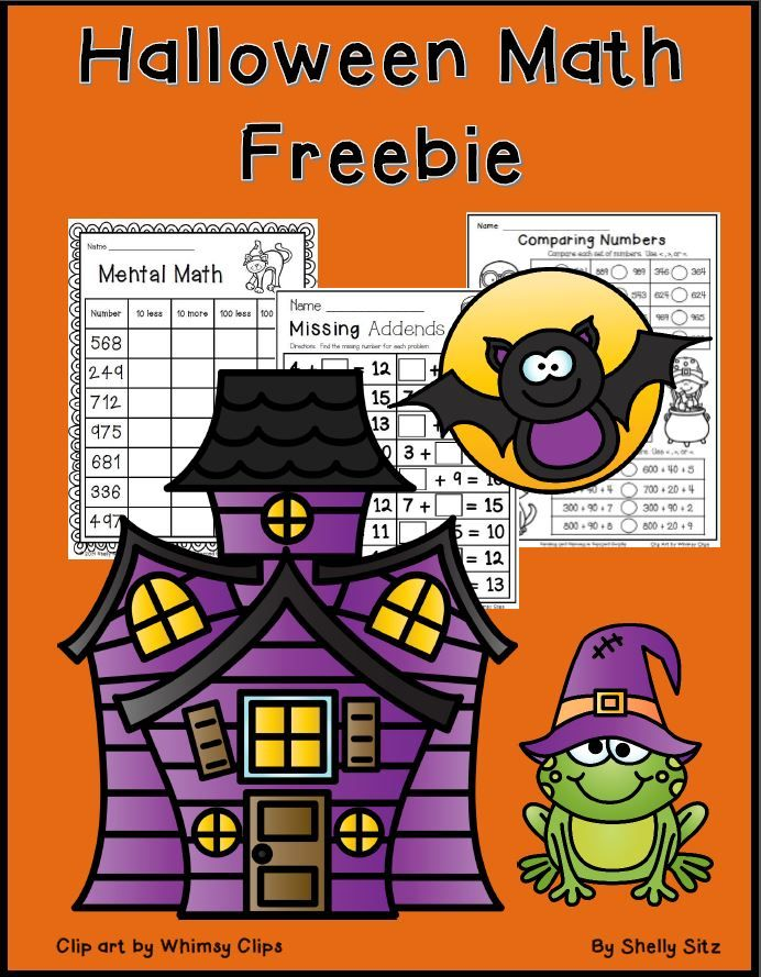 free halloween math worksheets place value mental math ordering numbers fact families and. Black Bedroom Furniture Sets. Home Design Ideas