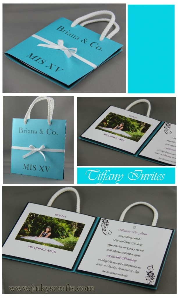 Tiffany Quinceañera Invitation- Bag Style
