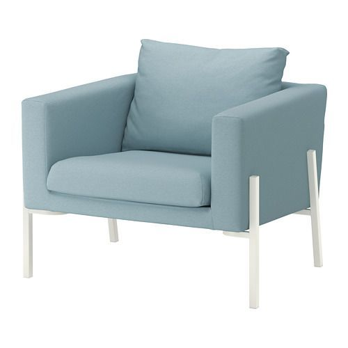 KOARP Armchair IKEA High resilience foam makes the armchair soft and comfortable to sit in, and it quickly regains its shape when you get up.