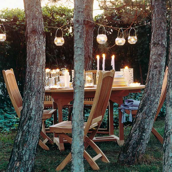 Подвесные фонарики. 30 идей для балкона, террасы или сада.