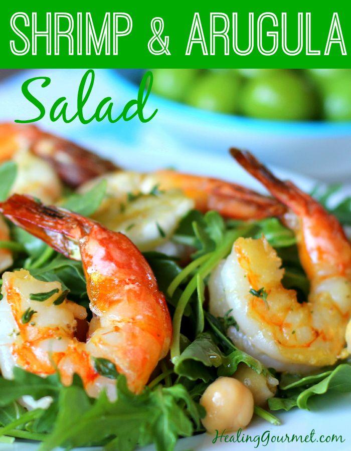 Shrimp and Arugula Salad Recipe - Healing Gourmet