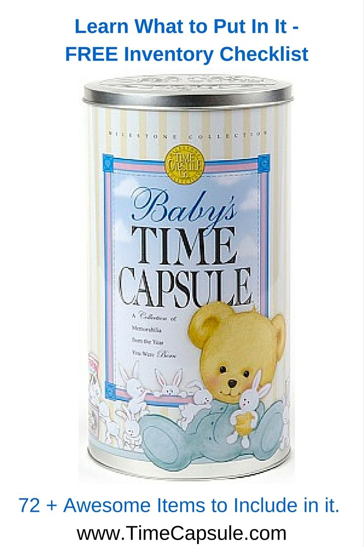 25+ Best Ideas About Baby Time Capsule On Pinterest