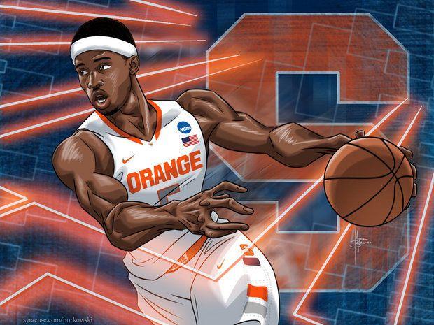 Basketball Cartoon CJ Fair Leads SU Into NCAA Tournament