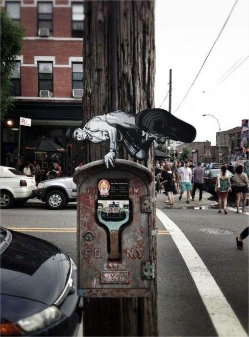 Street art nascosta: mini avventurieri abitano la città - di Joe Lurato