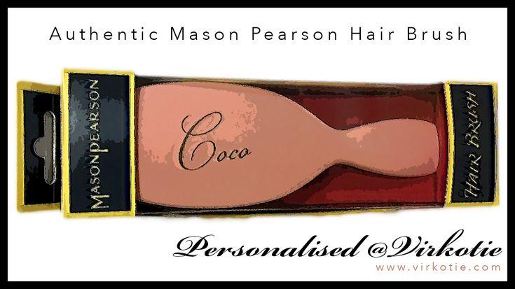 Authentic Mason Pearson Hair Brush Personalised @VIRKOTIE www.virkotie.com