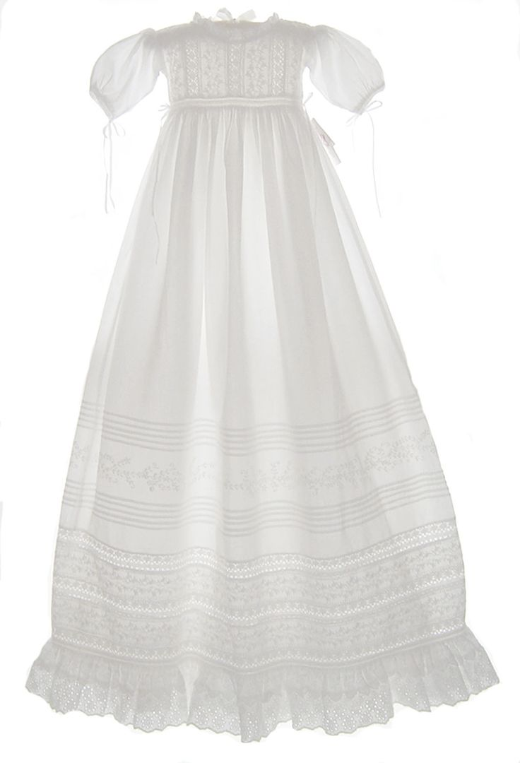 NEW Hearts Delight Victorian Style Christening Gown with Exquisitely Embroidered Lace $225.00