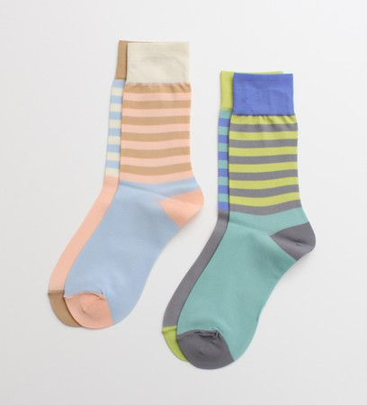 Mint, yellow, grey and periwinkle