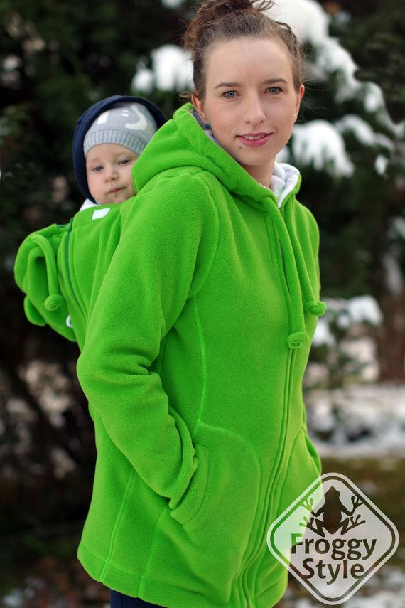 4-in-1 Front/Back Babywearing Jacket FROGGY STYLE di FroggyStylePL