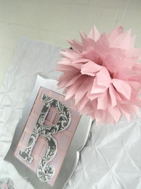 """Back drop ideas - Pink + Grey Damask Baby Shower / Baby Shower/Sip & See """"Pink + Gray Damask Baby Shower"""" 