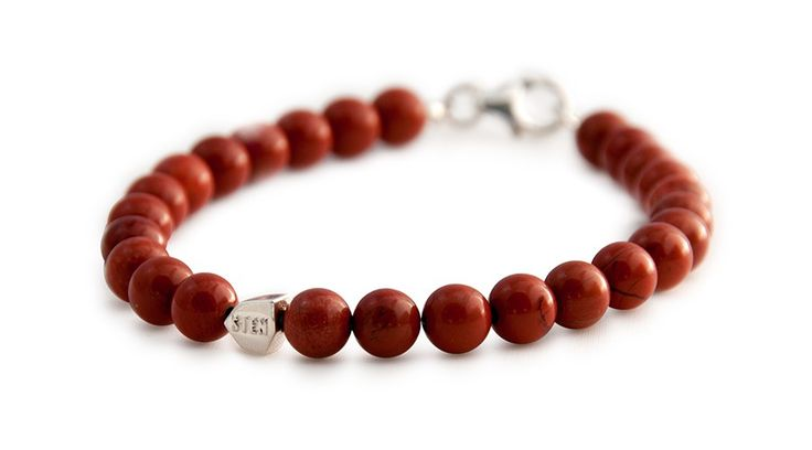 The bracelet South African Red Stone was created with inspiration of red bricks that characterizes many of our older industries around Sweden. We sourced this natural stone from South Africa hence the name.