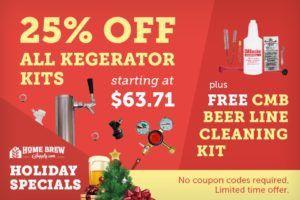 25% off Kegerator Kits via Home Brew Supply Black Friday Sale #homebrew