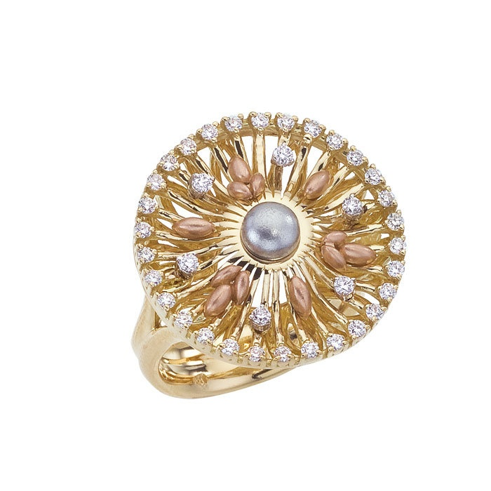 Diamond Jewellers :: 18kt Sistina Round Ring