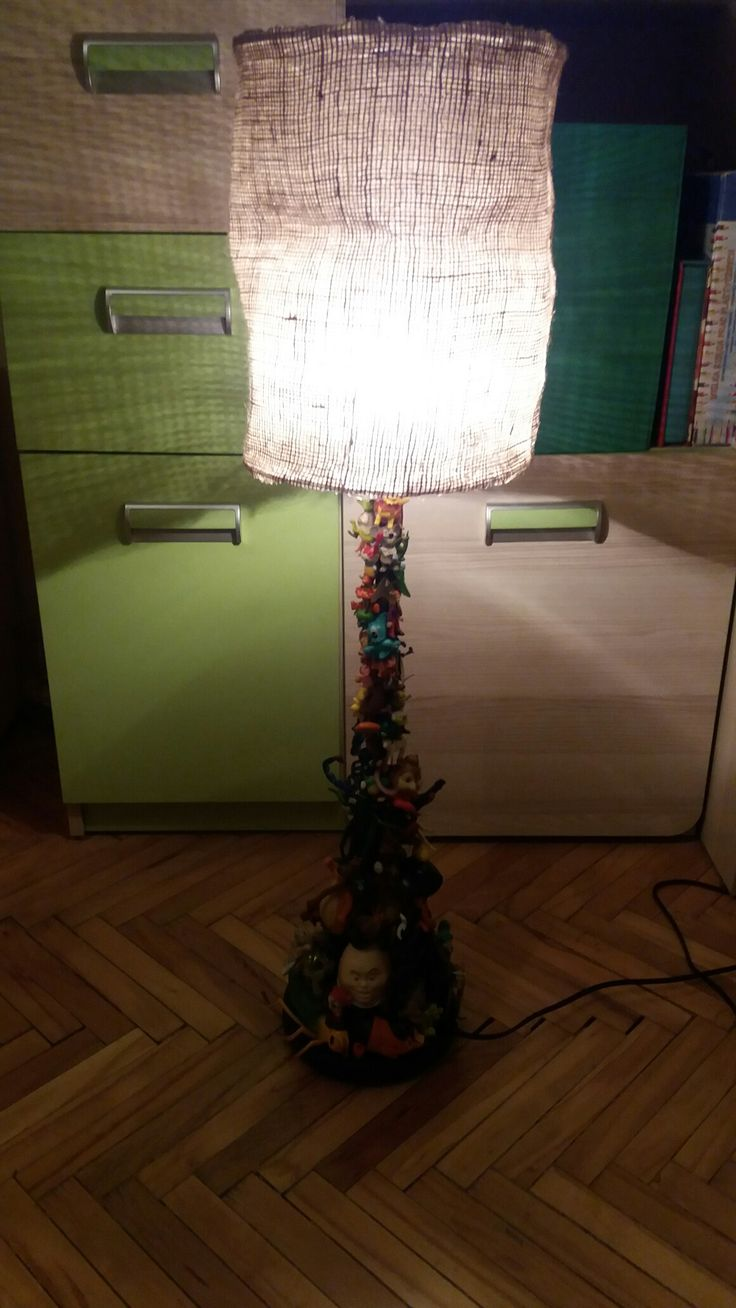 Lamp with toys