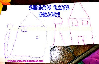 """Play """"Simon Says...DRAW!"""" to help kids practice following directions in a fun way. This one if great or the whole family #Momto2PoshLilDivas: Plays Simon, Help Kids, Follow Direction, Posh Lil, Kids Practice, Kiddo Activities, Development Kindergarten, Lil Divas, Families Momto2Poshlildiva"""