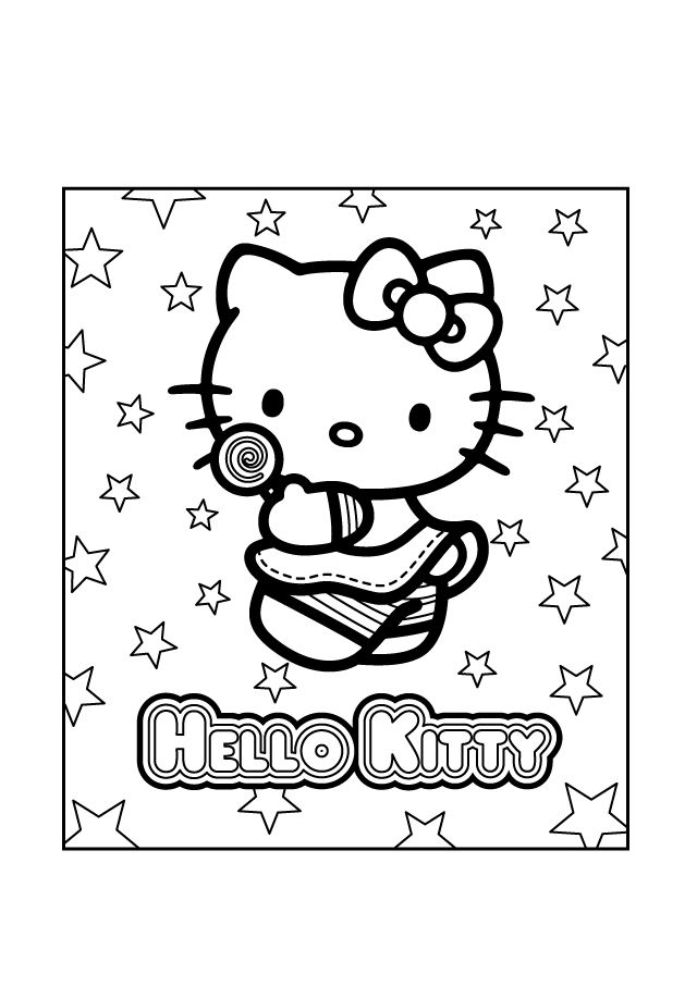 158 Best Hello Kitty Coloring Pages Images On Pinterest