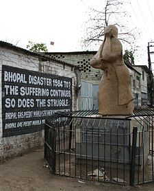 The Bhopal disaster, also referred to as the Bhopal gas tragedy, was a gas leak incident in India, considered the world's worst industrial disaster.[1] It occurred on the night of 2–3 December 1984 at the Union Carbide India Limited (UCIL) pesticide plant in Bhopal, Madhya Pradesh. Over 500,000 people were exposed to methyl isocyanate gas and other chemicals.