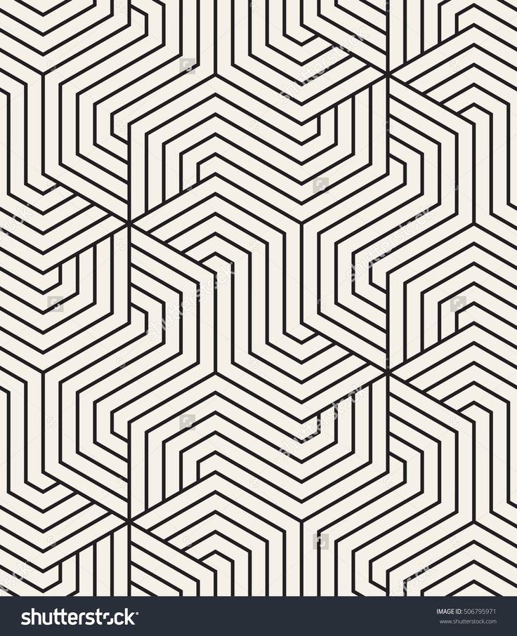 Vector Seamless Pattern. Modern Monochrome Texture