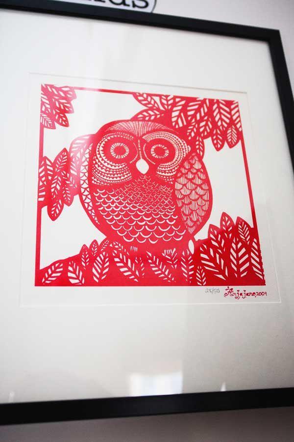 Anja Jane Owl Screen print
