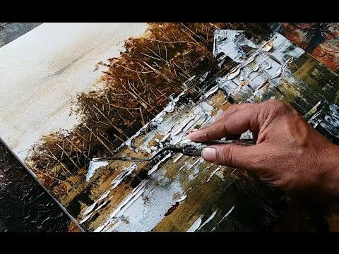 Abstract Painting / Abstract Landscape 03 / No Brush / Demonstration – YouTube