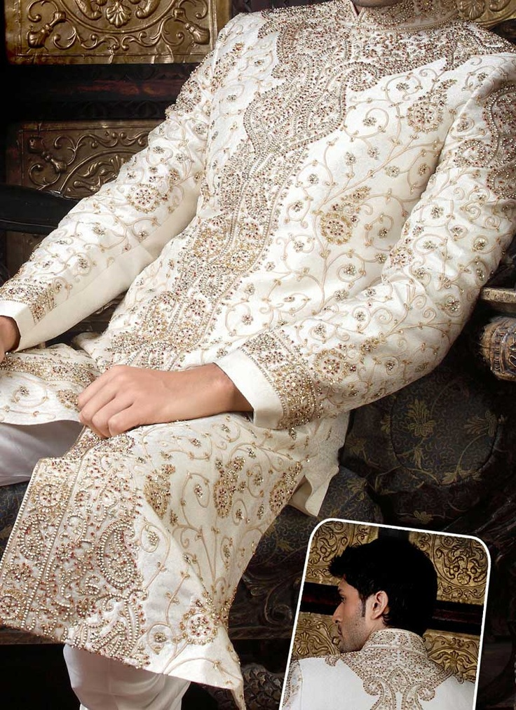Perfect details - Mughal Style Sherwani - indian/ pakistani groom costume