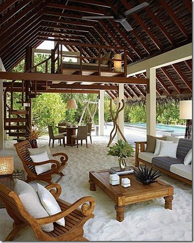 A sand pit for the grown ups! Backyard Beach. Garden Idea. Fire Pit Idea. Garden Decor. Tropical Backyard