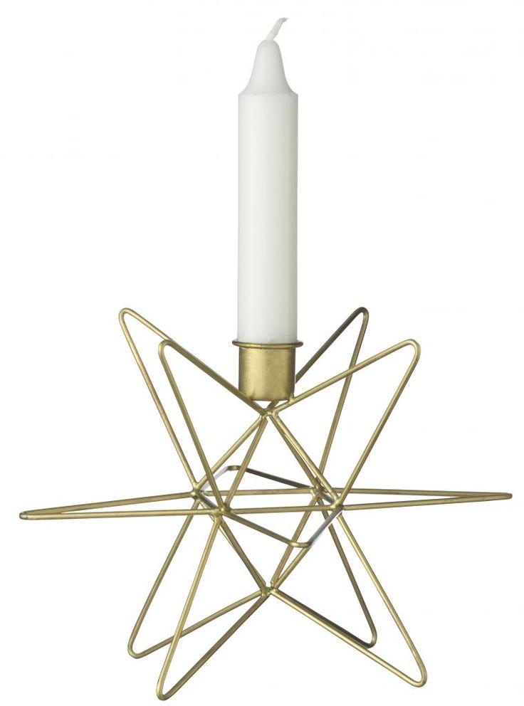 Madam Stoltz / Svícen Star brass 14cm