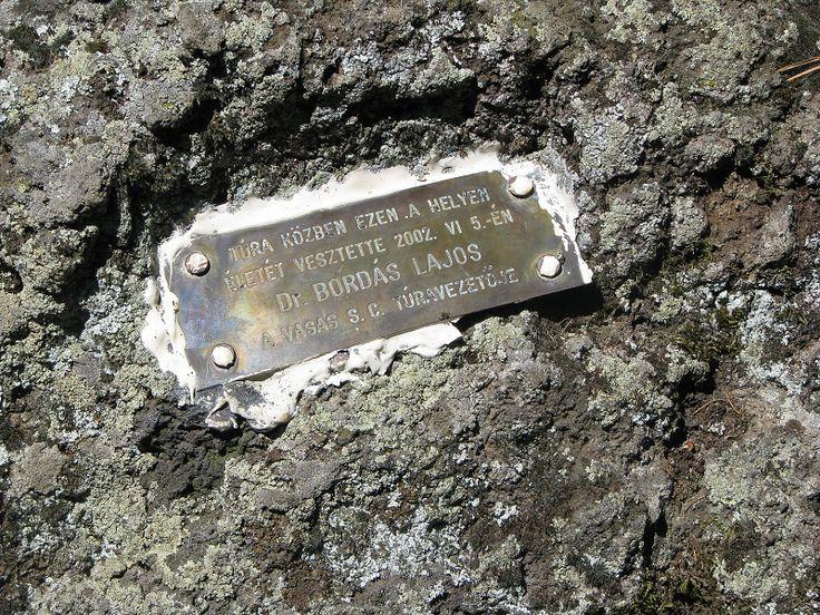 Dr. Bordás Lajos túravezető emléktáblája (Raposka közelében 1.1 km) http://www.turabazis.hu/latnivalok_ismerteto_2232 #latnivalo #raposka #turabazis #hungary #magyarorszag #travel #tura #turista #kirandulas