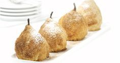 uit de Miele-stoomoven: stoofpeertjes in bladerdeeg, gevuld met amandelspijs