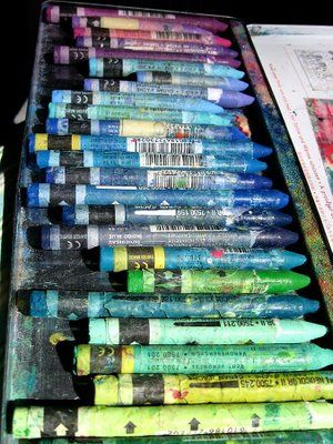 Caran d'Ache Neocolors-I need to figure out which ones I've used up and needs replacing-<3<3<3