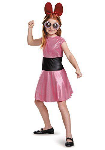Disguise Blossom Classic Powerpuff Girls Cartoon Network Costume, Medium/7-8