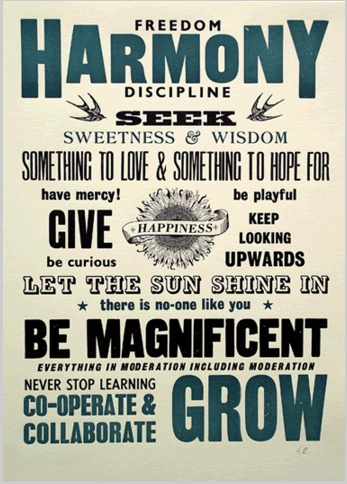 Be Magnificent, we love the message on this poster