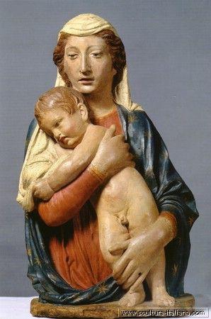 Luca Della Robbia: Madonna col Bambino (1430-35, Firenze, chiesa di Santa Felicita)