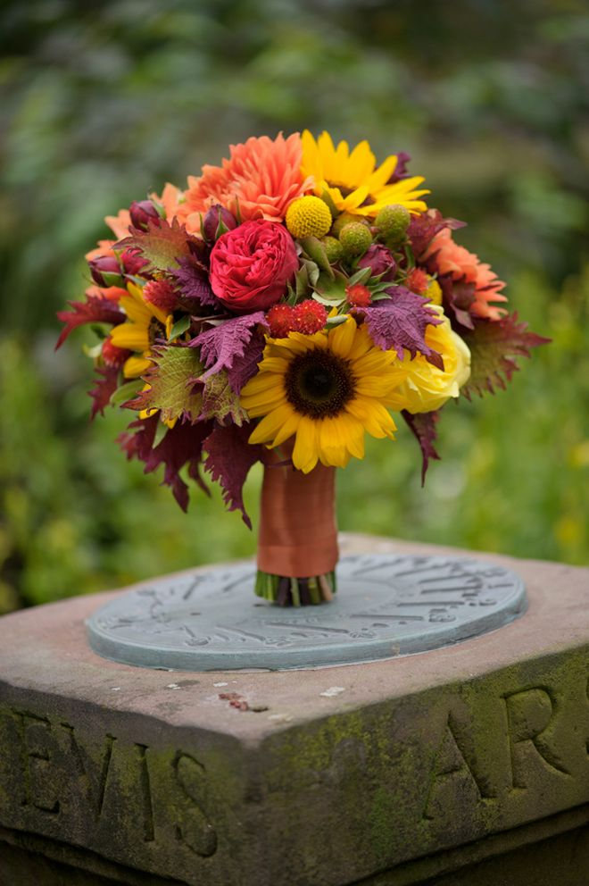 fall wedding bouquets fall outdoor wedding rustic elegance diy details 4020