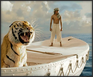 Life of Pi (Trailer) -- I've been waiting for this movie.  I admire Ang Lee, who directed this film based on Yann Martel's novel about a young kid stranded at sea with only one other survivor -- a Bengal tiger.