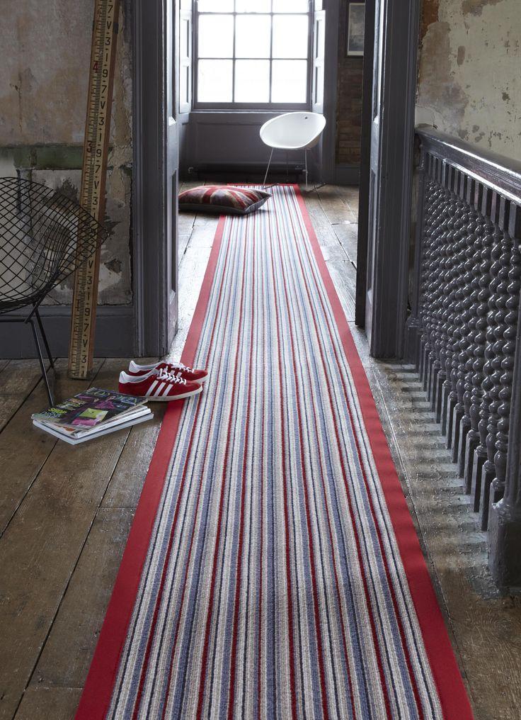 Alternative flooring 'Rock and Roll' Striped runner.