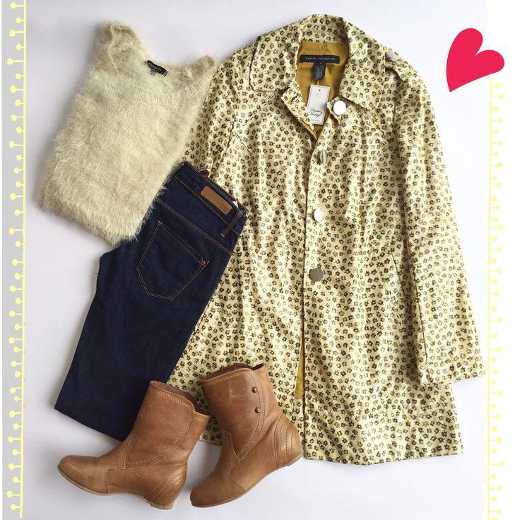 💛🌧LISTA PARA LA LLUVIA&FRIO❄️💛 🔸FRENCH CONNECTION Impermeable (6/38) 🔸NICOPOLY Sweater Peludo (M) 🔸TRAFALUC Jeans Pitillo (34) 🔸GACEL Botas Camel (35) 🔜www.bazarvintage.cl 🔛www.facebook.com/BazarVintageCL #BazarVintageCL #ReuseFashion #VintageBag #soyceroplástico #vintagestore #vintagelove #vintagestyle #vintageclothing #vintagefashion #fashionvintage #branding #ExclusiveClothes #VintageClothes #digitalart