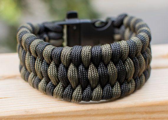Paracord Trilobite Weave Bracelet, 2 color.