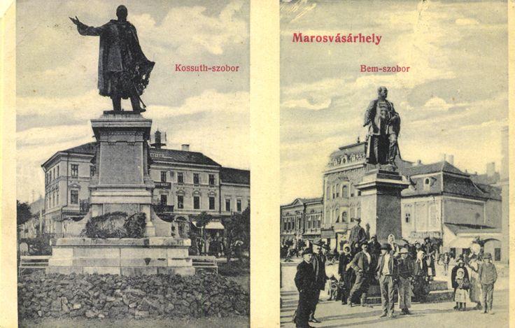 Marosvásárhely Kossuth és Bem szobor...
