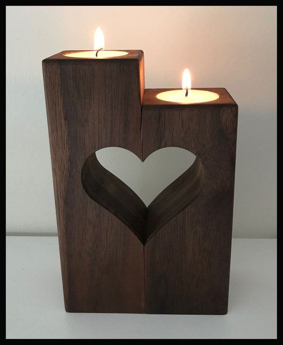 Heart Candle Holder Heart Candle Holder Wooden Candle Holders