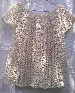 Green Sea Creations: Summer tunic woven crochet
