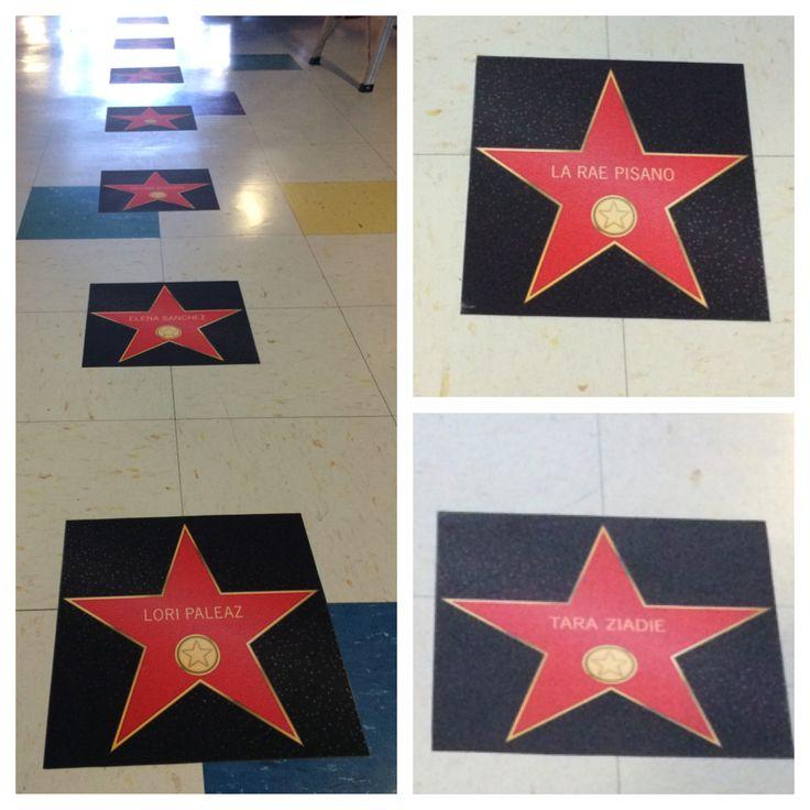 Teacher appreciation decoration. classroom door. Hollywood stars movies theatre academy awards oscars.