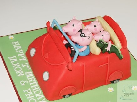Peppa pig cake  Cake by fiso