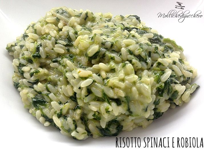 #Risotto #robiola e #spinaci - Molliche di zucchero