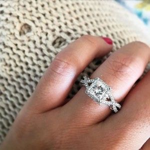 Trapezoid Diamond Engagement Rings