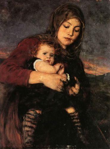 .:. Γύζης Νικόλαος – Gyzis Nikolaos [1842-1901]  Μάνα με παιδί