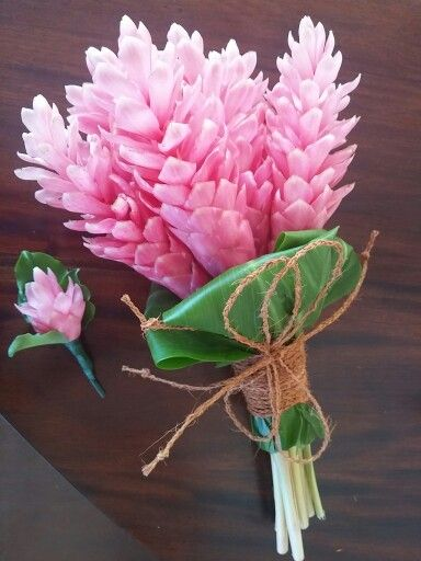Pink ginger bouquet