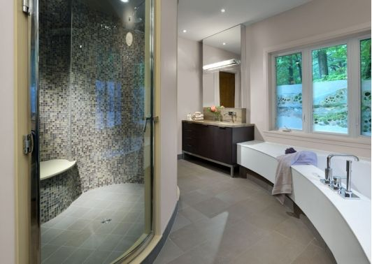1456 best beautiful bathrooms images on pinterest for Contemporary ensuite ideas