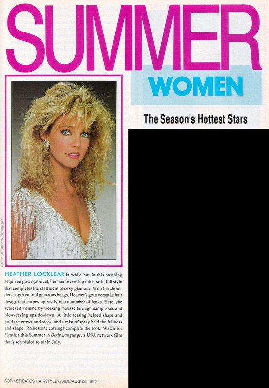 Heather Locklear Magazine Cover Photos - List of magazine