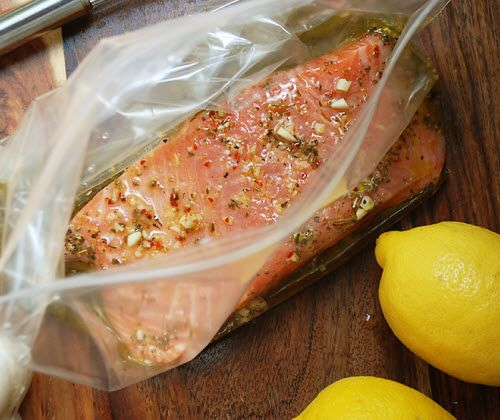 My favorite lemon dijon salmon marinade